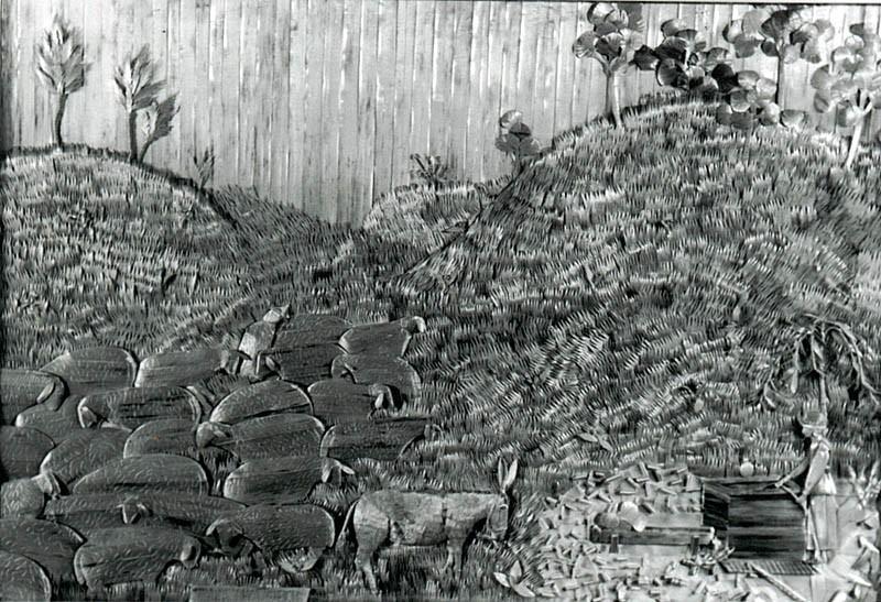 Mara Ivković Ivandekić , Čoban s ovcama, slama, 1967. godine