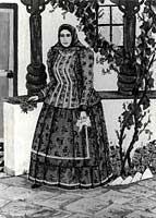 Nina Poljaković , Prid ambetušom, tempera, 1971. Godine