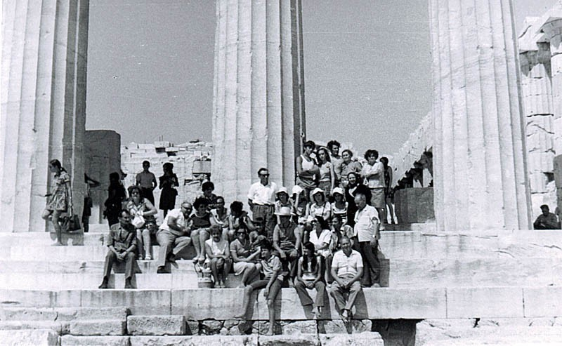 S putovanja likovne sekcije u Grčku 1971. godine