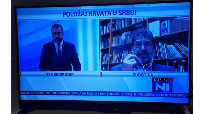 Tomislav Žigmanov o položaju Hrvata u Srbiji na N1 Hrvatska